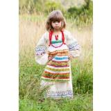 Русский народный детский костюм ФАРТУКИ разноцветный , 95 см