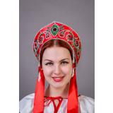 Русский народный костюм КОКОШНИКИ Кокошник Пелагея ПЛГ- 00-01-00, 16