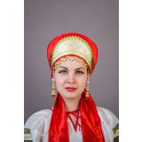 Русский народный костюм КОКОШНИКИ Кокошник  Ирина Ира 00-01-00, 11см