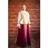 Русский народный костюм бордо с золотом, р. 54-56