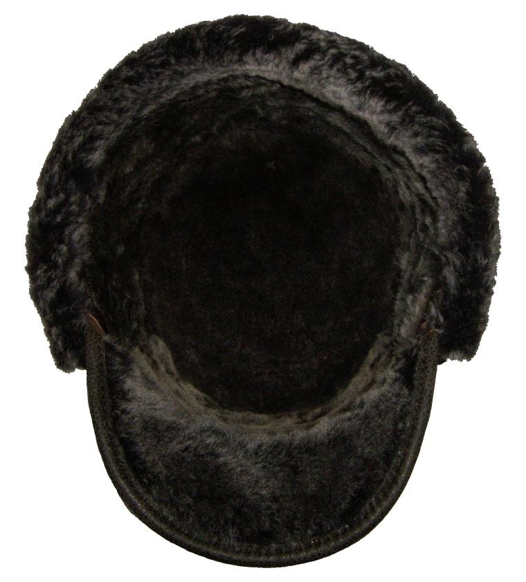 Головной убор шапка меховая австрийка, Натуральная кожа с овчиной