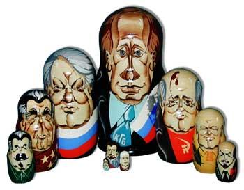 Матрешка 10 мест Вожди России