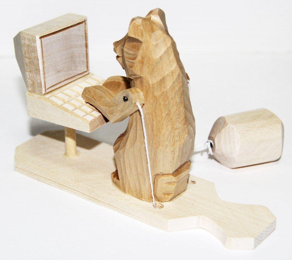 Богородская игрушка Мишка программист