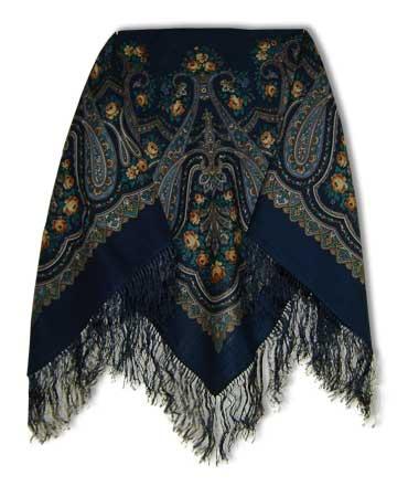 Платок Павловопосадский с шелковой бахромой 89 x 89 !1397-4 Ласковое утро