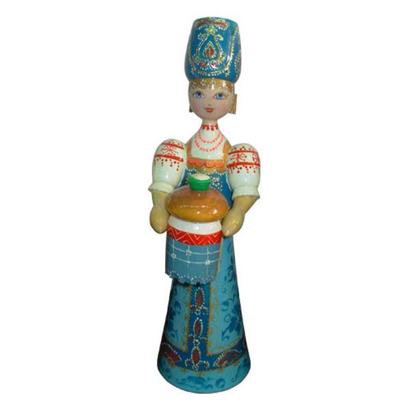 Кукла деревянная маленькая - 17, ручная работа, роспись