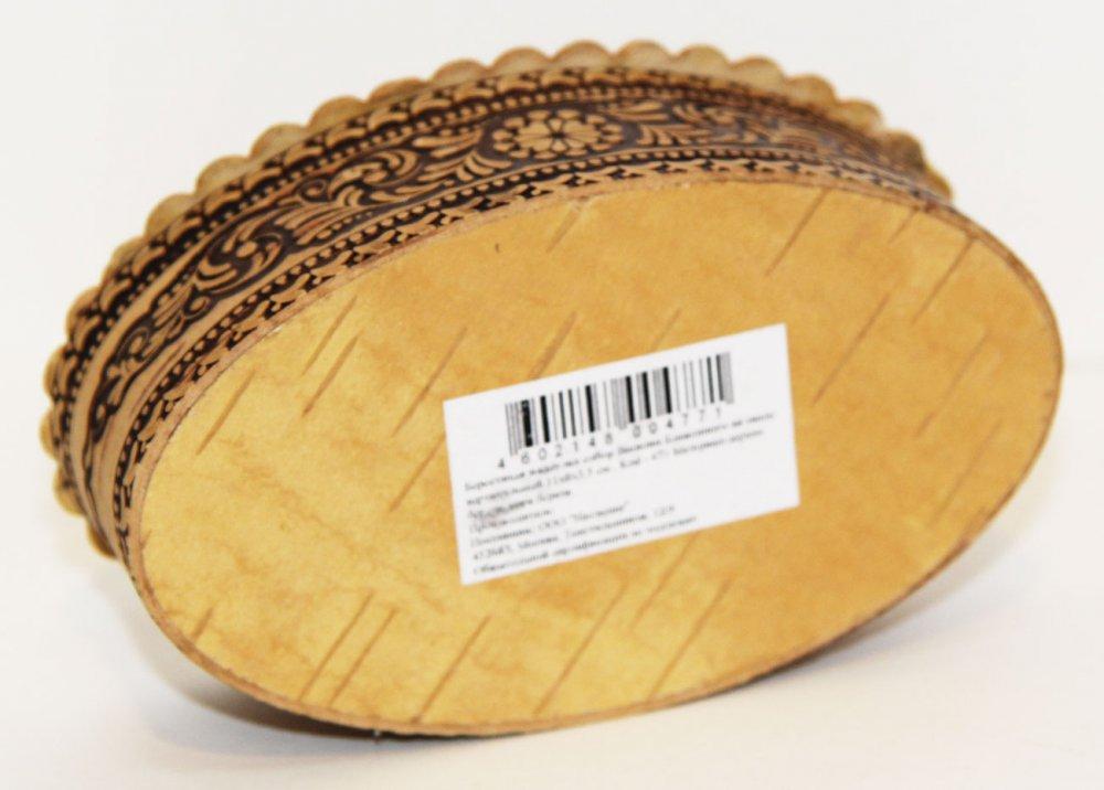 Береста шкатулка Собор Василия Блаженного, овальная форма