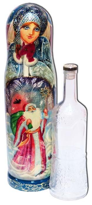 Матрешка Футляр для бутылки Новогодний 0,7 л