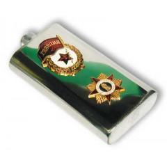 Фляжка металлическая Гвардия орден Победы металл