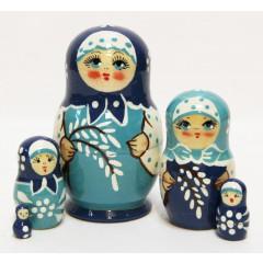 Матрешка Сергиево-Посадская 5 мест верба мал.