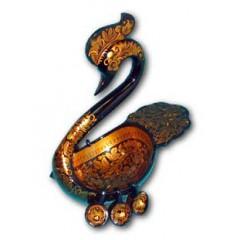 Хохлома сувенирная лебедь большой