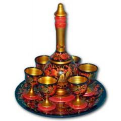 Хохлома сувенирная Набор для вина с графином
