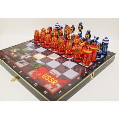 Шахматы флаги, СССР и США