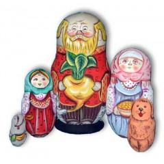 Матрешка Сергиево Посадская 5 мест Дед с репой акрил