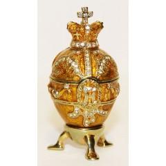 Копия Фаберже 114-0223-5 Яйцо пасхальное, малое, Королевское, бежевое