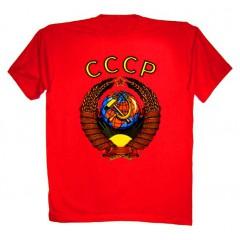 Футболка L Герб СССР L красная