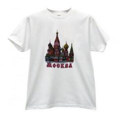 Футболка L Собор Василия Блаженного, L, белая