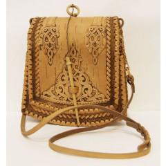 Береста сумочка женская Трапеция, 20 x 21 x 8