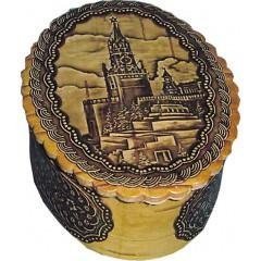 Береста шкатулка 10754/1 овальная Кремль