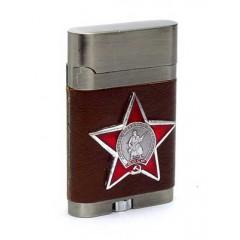 Зажигалка Орден Красной Звезды в кожанном чехле