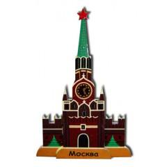 Магнит деревянный Спасская башня бол.