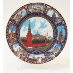 Тарелка 10-K8-22 Москва набережная коллаж D10