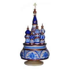 Музыкальный собор - макет Гжель, Россия, вращающийся, 23, Храм Василия Блаженного