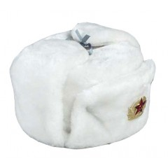 Головной убор шапка меховая искусственный мех белый в асс. разм.