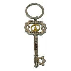 Брелок 125CHM-8-21-1G Брел. - ключ металл Москва, Спасская башня, цвет хром матовый.
