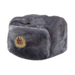 Головной убор шапка меховая искусственный мех серый в асс.разм.
