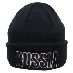Головной убор шапка шерстяная синяя