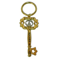 Брелок 125GBI-8-21-1S Брел. - ключ металл Москва, Спасская башня, цвет зол.
