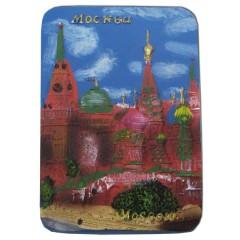 """Магнит 022-09-20-1 рельефный Premium """"Москва. Коллаж""""вертикальный  синий"""