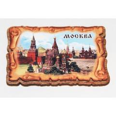 Магнит деревянный деревянный свиток, Храм Василия блаженного.