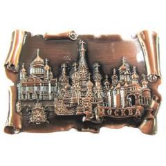 Магнит металлический 027-2CU-19K35 свиток мет Москва Коллаж цвет медь