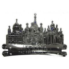 Магнит металлический 027-1CHB-19K35 свиток Москва соборы цв. темное серебро