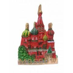 Магнит деревянный 029-1-18GR резной Москва Грифоны ХВБ