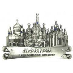 Магнит металлический 027-1ATN-19K35 свиток Москва соборы цв.серебро