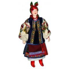 Кукла авторская Галина Масленникова А1-22 Украинская Киевской губернии женский костюм