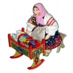 Кукла авторская Галина Масленникова А2-8-2 Композиция Девочка с люлькой
