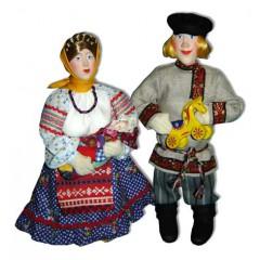Кукла авторская Галина Масленникова Д9 Композиция Крестьянская семья