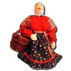 Кукла авторская Галина Масленникова А2-5 Марья с лукошком