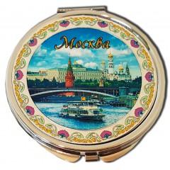 "Зеркало 317CHE-17 Зерк.металографика пл.D7 ""Москва.Панорама"" цвет серебро"