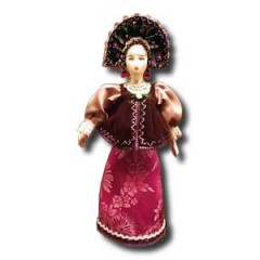 Кукла средняя АФ-9 В нац. костюме