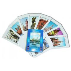 Карты игральные 900-19B Москва синие new 55 листов