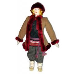 Кукла авторская Галина Масленникова А1-16 Парень в полушубке