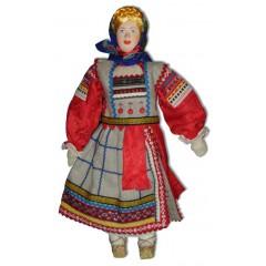 Кукла авторская Галина Масленникова А1-2-1 Рязанской губернии женский костюм льняной