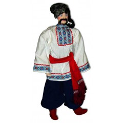 Кукла авторская Галина Масленникова А1-8-1 Украинская Киевской губернии мужской костюм