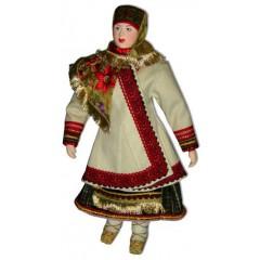 Кукла авторская Галина Масленникова А1-18-1 Тамбовской губернии женский костюм