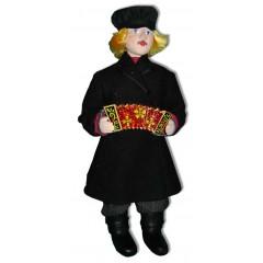 Кукла авторская Галина Масленникова А2-18 Парень в кафтане мужской костюм