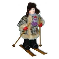 Кукла авторская Галина Масленникова А2-23-1 Мальчик-подросток на лыжах